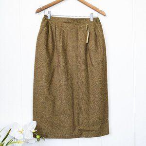 Vintage Sevil Wool Blend NWT Midi Skirt